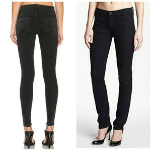 Hudson Colette Mid Rise Skinny Jeans Faded Black